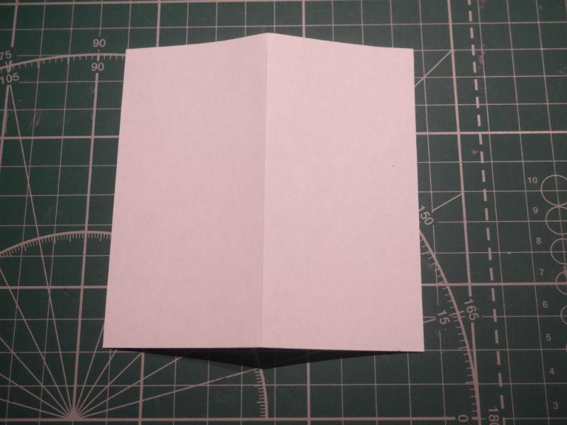 бумажный кубик, шаг 2
