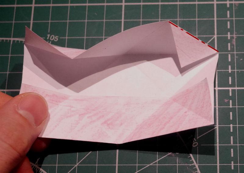 бумажный кубик, шаг 6