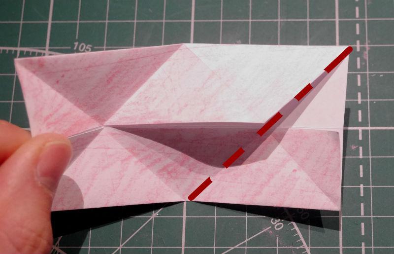 бумажный кубик, шаг 7