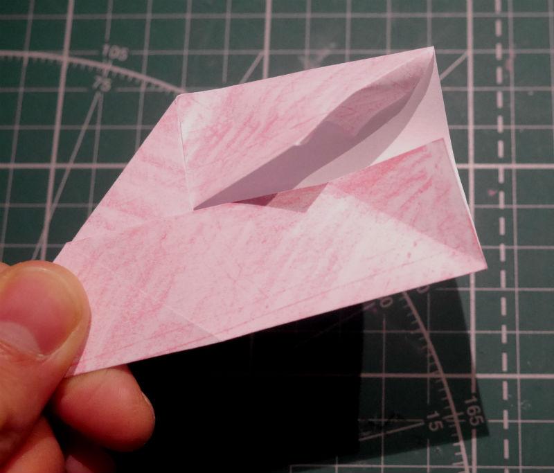 бумажный кубик, шаг 9