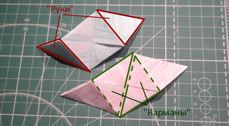 бумажный кубик, шаг 11