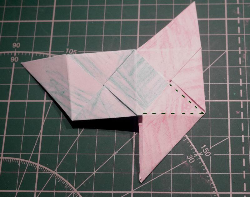 бумажный кубик, шаг 12