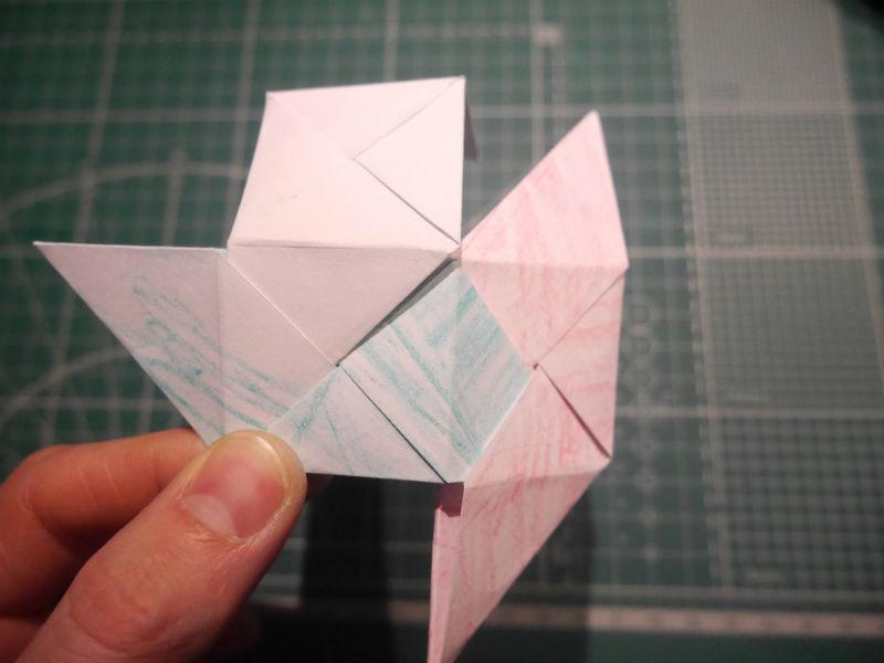 бумажный кубик, шаг 14