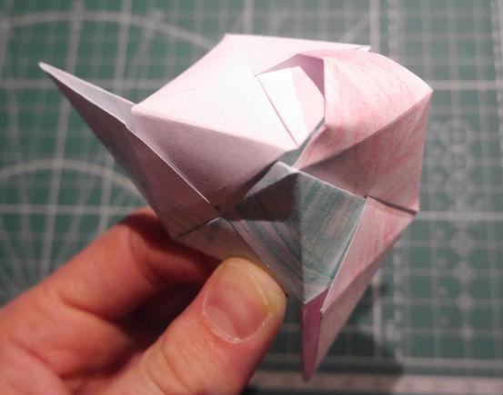 бумажный кубик, шаг 15
