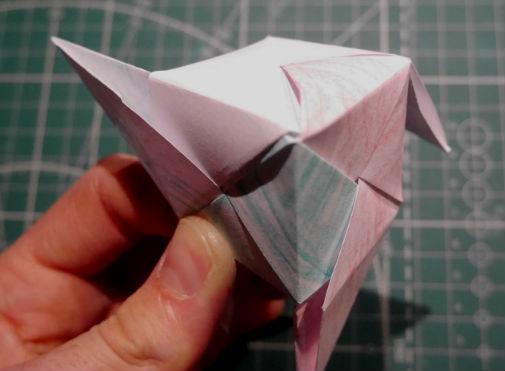 бумажный кубик, шаг 16