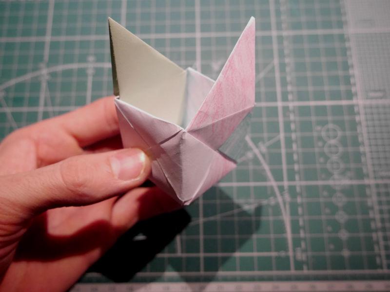 бумажный кубик, шаг 18