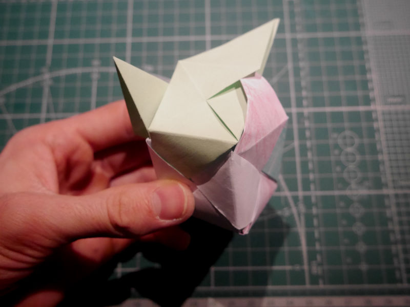 бумажный кубик, шаг 19