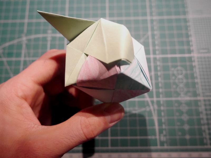 бумажный кубик, шаг 20