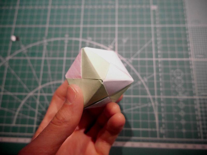 бумажный кубик, шаг 21