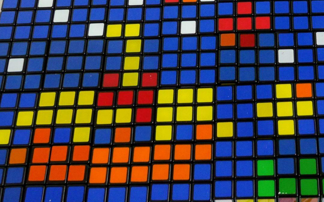 Картины из кубиков Рубика: первый опыт